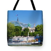 The Grand Palais And The Alexandre Bridge Paris Tote Bag