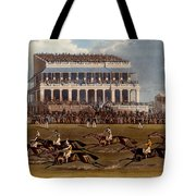 The Grand Stand At Epsom Races, Print Tote Bag