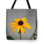 The Gray Day Of Yellow Tote Bag