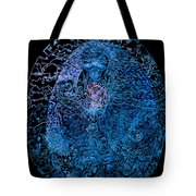 The Great Amma In Black Light Tote Bag