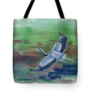 The Great Blue Heron Tote Bag