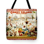 The Great Coney Island Water Carnival Tote Bag by Georgia Fowler