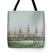 The Great Eastern Laying Electrical Cable Between Europe And America Tote Bag