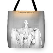 The Great Emancipator Tote Bag by Greg Fortier