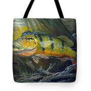The Great Peacock Bass Tote Bag by Terry  Fox