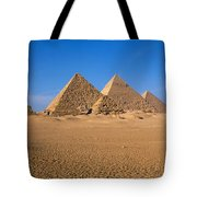 The Great Pyramids Giza Egypt Tote Bag