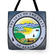 The Great Seal Of The State Of Alaska  Tote Bag
