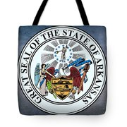 The Great Seal Of The State Of Arkansas Tote Bag