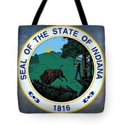 The Great Seal Of The State Of Indiana  Tote Bag