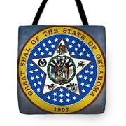 The Great Seal Of The State Of Oklahoma Tote Bag