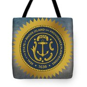 The Great Seal Of The State Of Rhode Island Tote Bag