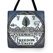 The Great Seal Of The State Of Vermont Tote Bag