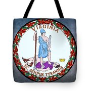 The Great Seal Of The State Of Virginia  Tote Bag