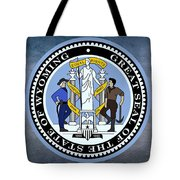 The Great Seal Of The State Of Wyoming Tote Bag