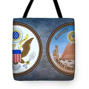 The Great Seal Of The United States Obverse And Reverse Tote Bag