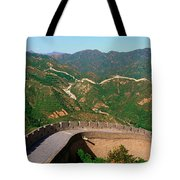 The Great Wall At Badaling In Beijing Tote Bag