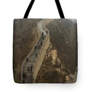The Great Wall Of China At Badaling - 8  Tote Bag
