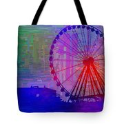 The Great  Wheel Cubed Tote Bag