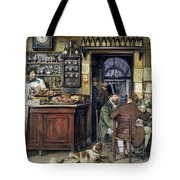 The Greek Cafe In Rome Tote Bag