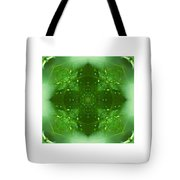 The Green Jewel Of Nature Mandala Tote Bag