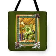 The Green Knight Christmas Card Tote Bag