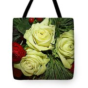 The Green Roses Of Winter Tote Bag