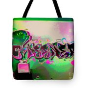 The Greener Side Posterized And Framed Tote Bag