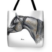 The Grey Arabian Horse 11 Tote Bag