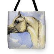 The Grey Arabian Horse 12 Tote Bag