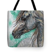 The Grey Arabian Horse 13 Tote Bag