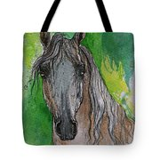 The Grey Arabian Horse 17 Tote Bag