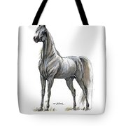 the Grey arabian horse 7 Tote Bag