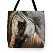 The Grey Arabian Horse Tote Bag