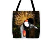 The Grey Crowned Crane Tote Bag