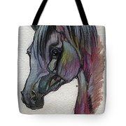 The Grey Horse Drawing 1 Tote Bag
