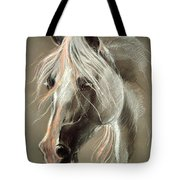 The Grey Horse Soft Pastel Tote Bag