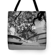 The Gugenheim In Black And White Tote Bag