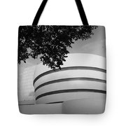 The Guggenheim Museum In Black And White Tote Bag