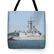 The Guided-missile Frigate Uss De Wert Tote Bag