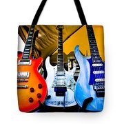 The Guitars Of Jimmy Dence - The Kingpins Tote Bag by David Patterson