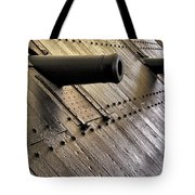 The Guns Of The Uss Cairo Tote Bag