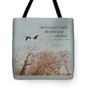 The Hand Of Friendship Tote Bag
