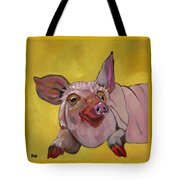 The Happiest Pig In The World Tote Bag