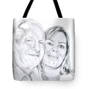 The Happy Couple Tote Bag by Ana Tirolese