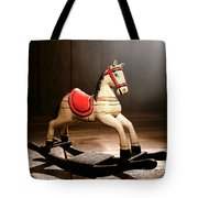 The Happy Little Rocking Horse In The Attic Tote Bag