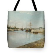 The Harbour At Lorient Tote Bag