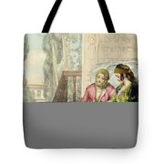 The Harem, Plate 1 From Illustrations Tote Bag by John Frederick Lewis