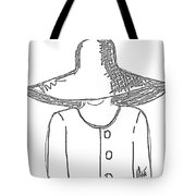 The Hat Lady - Digital Sketch Tote Bag