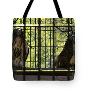 The Hawks From The Series The Imprint Of Man In Nature Tote Bag