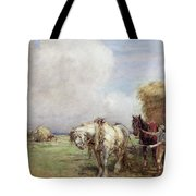 The Hay Wagon Tote Bag